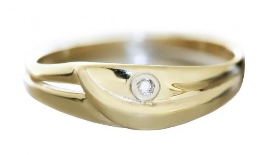 Ring Gold 585 mit Brillant zarter Goldring Damenring