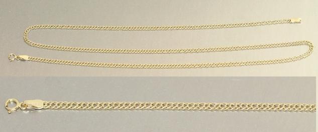 50 cm massive Goldkette 333 - diamantgeschliffen - breite Halskette - Kette Gold