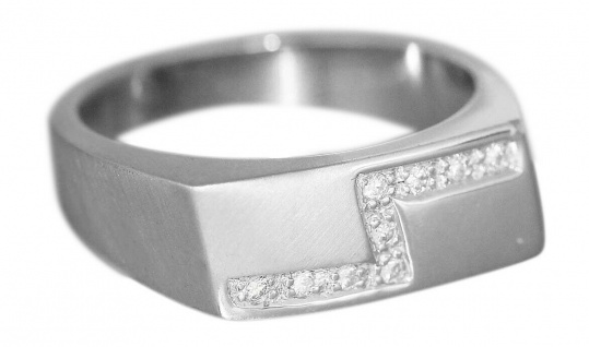 Ring Weißgold 585 mit 9 Brillanten Damenring Diamantring Weißgoldring 14 Kt