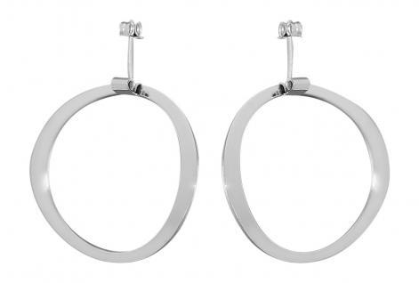 Ohrstecker Silber 925 Ohrhänger rhodiniert Designer Ohrringe Damen Grosse Optik!