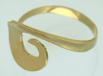 Moderner Goldring 585 große Optik tolles Design Ring Gold 585 Damenring