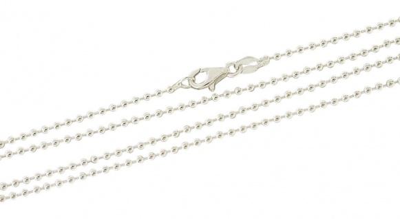 90 cm Kugelkette Silber 925 massiv Silberkette 2 mm Halskette starke Kette