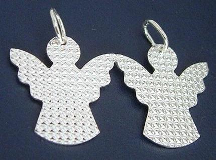 Partneranhänger rustikales Pärchen Anhänger Silber 925 Silberanhänger Paar