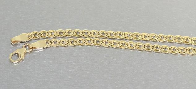 19 cm Armband Gold 333 funkelnd geschliffen Goldarmband Karabiner Armkette 8 kt - Vorschau 2