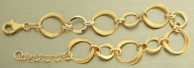 Massives Armband Silber 925 vergoldet tolles Silberarmband Gold pl Armkette