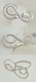 Für Mutige - Weißgoldring 585 mit Zirkonias - Damenring Gold Ring Weißgold 14 kt