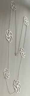 94 cm lange Silberkette 925 Super Kette Silber mit Dekorgliedern Halskette