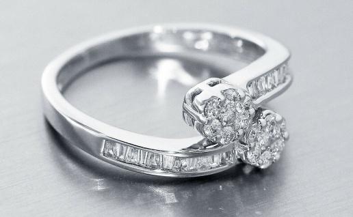 Eleganter wertvoller Ring Weißgold 750 Brillantring 0, 52 ct. Weißgoldring Gold - Vorschau 3