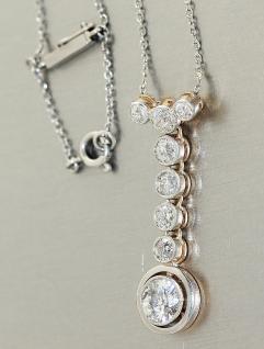 Kette Weißgold 585 mit 2.45 carat Brillanten Weißgoldkette Halskette 14 kt Gold
