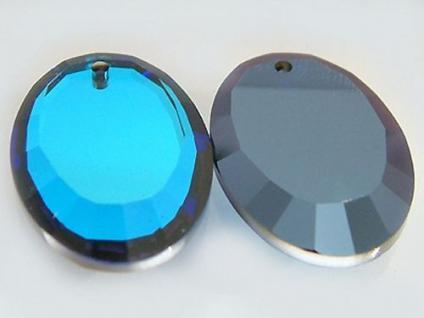 Feng Shui Kristalle in Blau 15 Stück oval facettiert blaue Kristalle Kristall