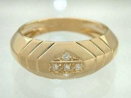 Designerring Brillantring Ring Gold 585 Goldring Damenring 5 Brillanten 14 Karat