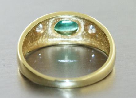 Goldring 585 Allianzring Smaragd und Brillanten 0, 10 ct Damen Ring RW 55 - Vorschau 4