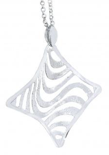 Silberkette 925 mit Anhänger Collier Halskette Damen tolles Design Erbskette