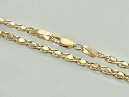 51 cm Goldkette 585 massiv 16 gr. - Karabiner Kette Gold 585 - Halskette Collier