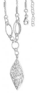 Silberkette 925 Sterlingsilber mit Anhänger Blatt Collier massiv Damen Halskette