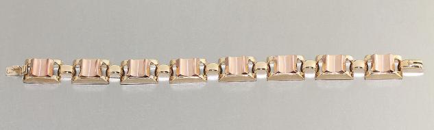 Armband Gold 585 - 18, 5 cm lang - Goldarmband 585 - 14 Karat Gold - Armkette