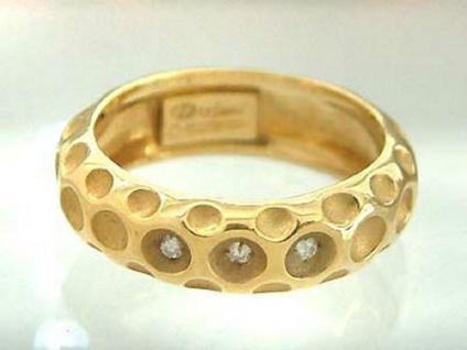 Massiver Goldring 750 - Brillantring - Bandring - Ring Gold - Damenring 18 kt