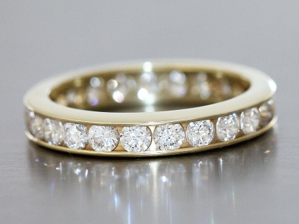 Zeitloser Memoryring Gold 585 - Goldring - Bandring - Eternity - Damenring 14 Kt