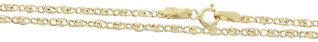 Kette Gold 585 Goldkette Halskette echt Gold 14 Karat Irrgangkette 50 cm