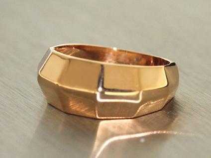Massiver Goldring 750 Rosegold Ring Gold 18 kt moderner Damenring