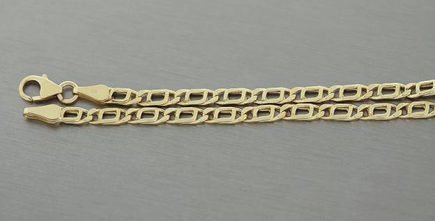 19 cm tolles Armband Gold 333 - Armkette - Goldarmband - funkelnd geschliffen