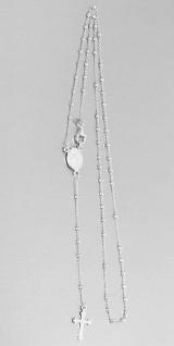 Rosenkranz Kette Silber 925 Kugeln facettiert Silberkette Kommunion Kreuz Maria