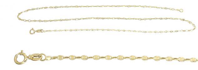 Zauberhafte feine Goldkette 585 seltenes Muster 50 cm Kette Gold Halskette Damen