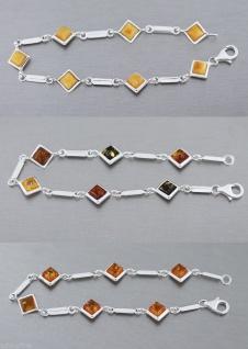 Silberarmband 925 mit Bernsteinen Armband Armkette Silber Bernstein Silber
