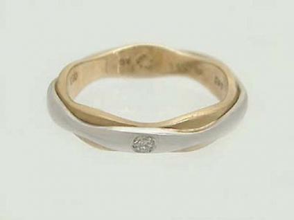 Brillantring in Zweifarbengold 585 Goldring Solitärring Gelbgold Weißgold Ring