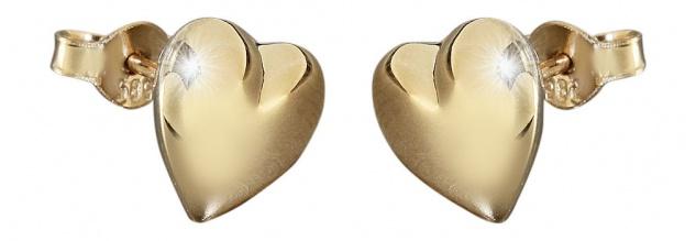 Herz Ohrstecker Gold 585 - Herzen - Goldherzen - Stecker - Goldohrringe 14 kt
