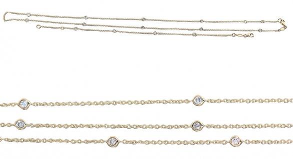 Armband Gold 585 mit Zirkonias feine Armkette massiv Damen Schmuck