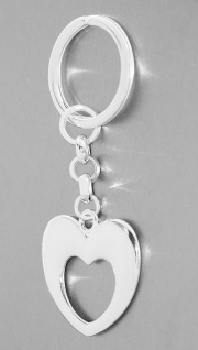 Schlüsselanhänger Silber 925 Herz massiv Schlüsselring Anhänger 12 gr.