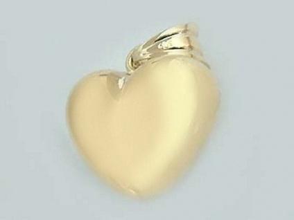 Herz Anhänger Gold 585 Goldherz Goldanhänger ein Herz für Ihre Liebste