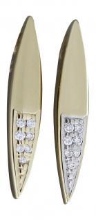 Edler Anhänger Gold 585 mit Brillanten Goldanhänger Brillantanhänger Diamant