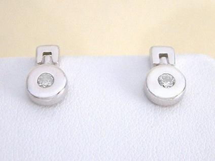 Silberohrstecker Quadrat Ohrringe Ohrstecker Silber 925 mit Perlmutt