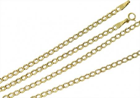 Panzerkette Goldkette 585 besondere Optik 45 cm Halskette Gelbgold gemustert