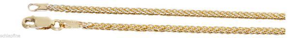 Armband Gold 585 Zopfkette 14 Karat Armkette feines Goldarmband 19 cm Karabiner