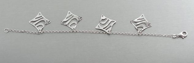 Armband Silber 925 rhodiniert mit Anhänger Bettelarmband Armkette Silberarmband