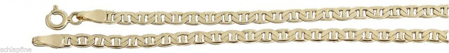 20 cm flaches Goldarmband 585 - Armkette Armband Gold 14 kt