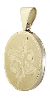 Anhänger ovales Medaillon Gold 585 Goldanhänger 14 kt Goldmedaillon 5, 2 gr. Gold