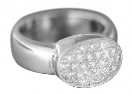 Ring Weißgold 750 mit Brillanten 0, 50 ct - Luxus Brillantring Gold Weißgoldring