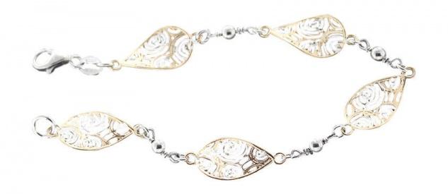Silberarmband 925 vergoldet Armband Silber massiv Designer Armkette Gold