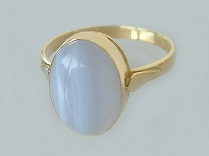 Klassischer Ring Gold 750 mit Achat Goldring 750 edler Damenring Achatring 18 kt