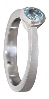 Massiver Solitärring Ring Weißgold 585 mit Topas Weißgoldring Damenring Gold