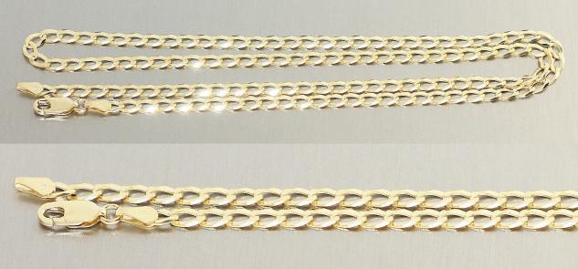 Massive Goldkette 585 Panzerkette Armband Kette Gold Halskette 50 / 55 / 60 cm