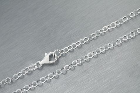 Superkette Silber 925 grobe Gliederkette 60 cm Silberkette tolle Halskette