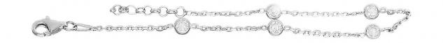 Armband Silber 925 mit Zirkonias Silberarmband feine Armkette Damenarmband