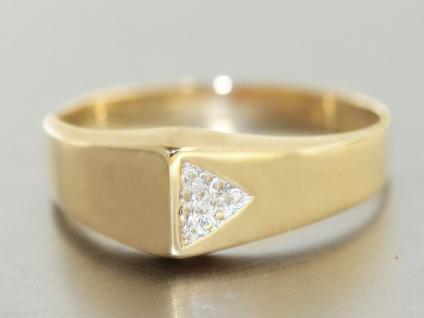 Ring Gold 585 Ring in 14 kt Gold (585/000) mit 3 Zirkonias