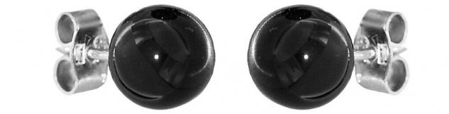 Ohrstecker Silber 925 Onyx Kugel 8 mm Ohrstecker Kugeln Ohrringe Ohrschmuck