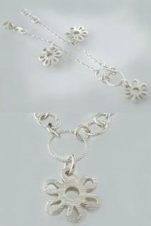 Silberarmband 925 - Bettelarmband Silber mit Blumen - Armband - massive Armkette